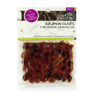 Kalamon Olives with balsamic cream, 250gr